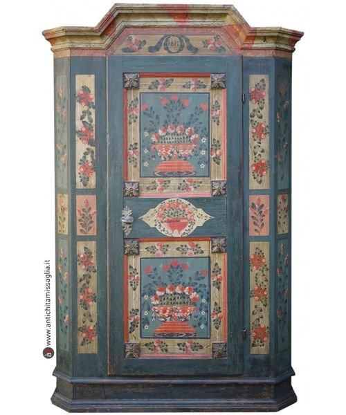 Armadio Tirolese Dipinto Antico Originale South Tyrol Flat Rent