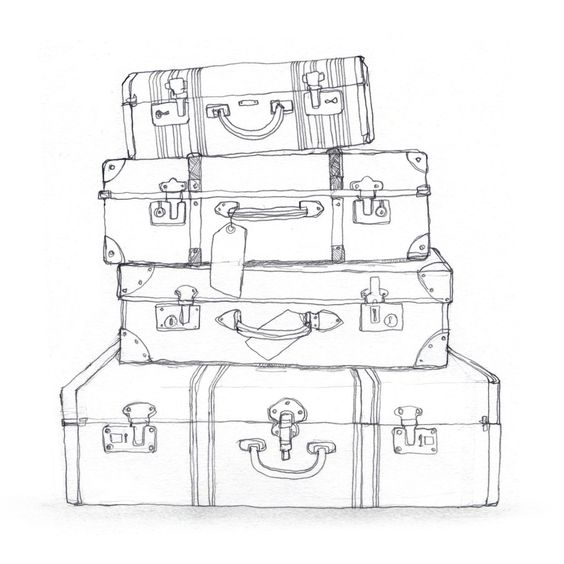 black and white luggage clip art | BROWN transfer ...