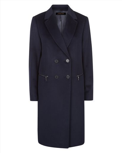 Wool Double-Breasted Zip Coat
