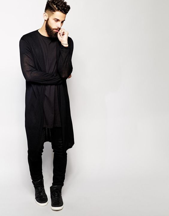 Image 1 of ASOS Super Longline Cardigan: