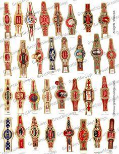 Vintage Cigar Labels label images Digital Collage by GreatMusings