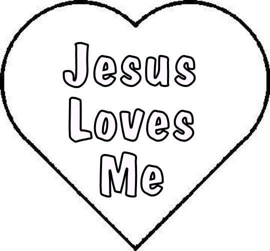 jesus loves you coloring pages - photo#26