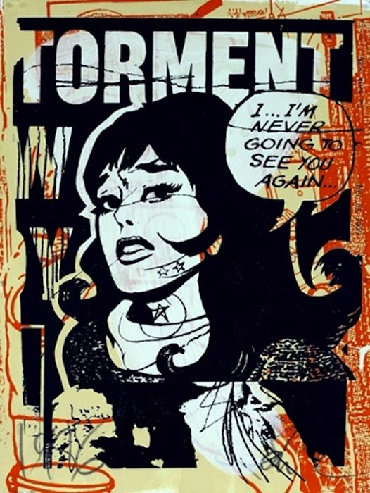 FAILE - TORMENT IN ORANGE - GREGG SHIENBAUM FINE ART MIAMI http://www.widewalls.ch/artwork/faile/torment-in-orange/ #Print
