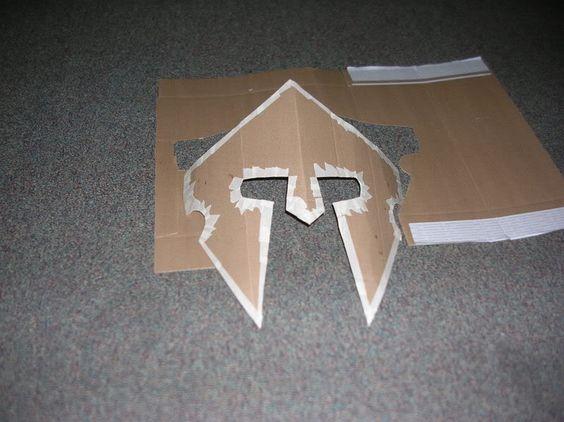 paper knight helmet template - how to make a roman helmet cardboard spartan helmet