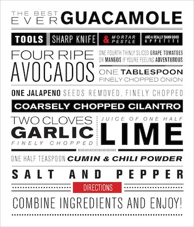 Stacked Type Recipe by Emma Chao