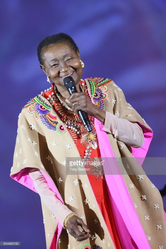 Calypso Rose performs during the '32nd Victoires de la Musique 2017' at Le Zenith on February 10, 2017 in Paris, France.