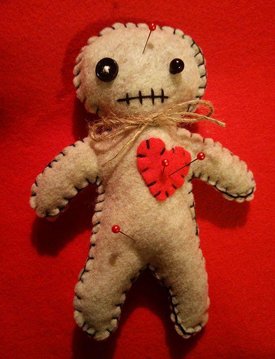 Handmade Voodoo Doll Kit Bats Felt And Handmade