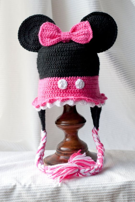 Minnie Mouse Crochet Hat Pattern Child : Minnie Mouse Custom crocheted hat Brooke dorsay, Little ...