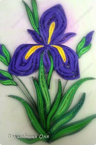 Картина панно рисунок Квиллинг Еще немного цветов Бумага фото 5