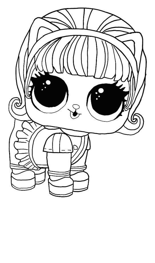 Lol Surprise Winter Disco Coloring Pages Free Coloring Pages Coloring1 Com Puppy Coloring Pages Kitty Coloring Star Coloring Pages