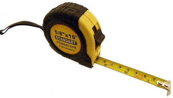 "16' X 5/8"" Metal Measuring Tape with Hand Strap and Waist Clip : ( Pack of 1 Pc )"