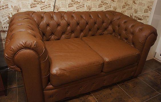 трехместный кожаный диван в английском стиле из натуральной - gemütliches sofa wohnzimmer