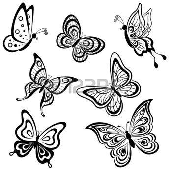 Papillon dessin banque d 39 images vecteurs et illustrations - Dessin petit papillon ...