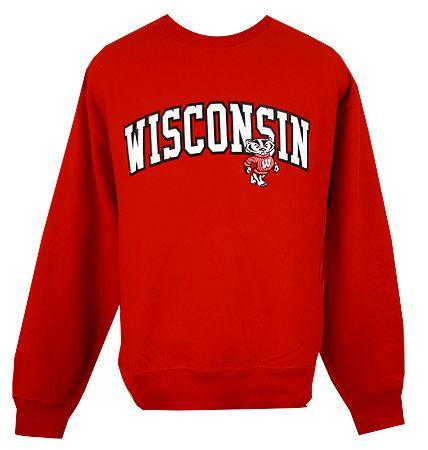 Wisconsin Bucky Arch Crew Sweatshirt