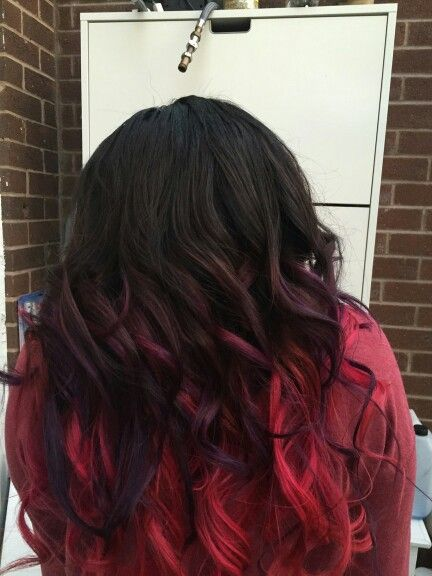 My attempt at purple and pink ombre