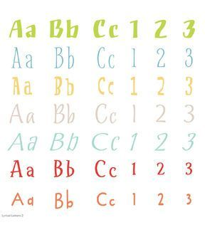 CricutR Lyrical Letters 2 Cartridge