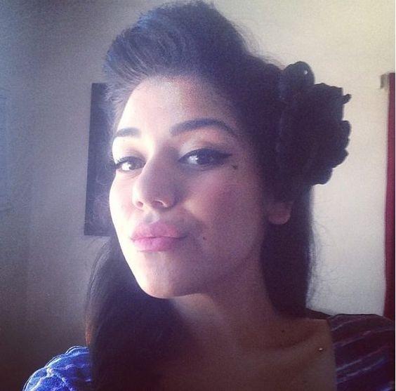 Pachuca Xicana Linda chicana Chicana Heart tattoo Heart on face Face tattoo Rosa Paloma negra