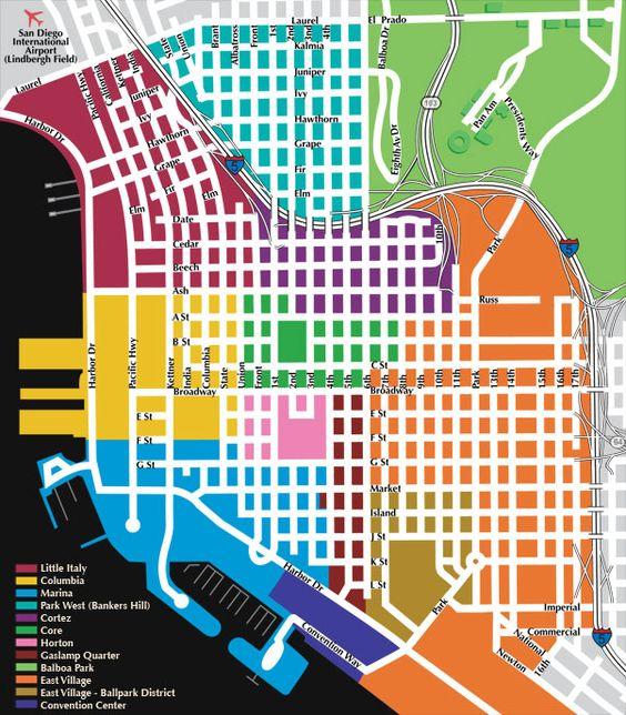 Gaslamp Quarter Map - Downtown San Diego | Lets go to ~ San Diego ...