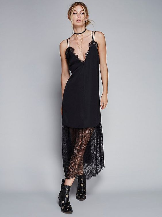 Like the lace on the bottom of the dress. Dream Lover Midi Dress