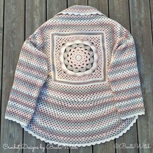 Crochet Flower Shrug Pattern : Japanese flowers, Crochet granny and Granny squares on ...