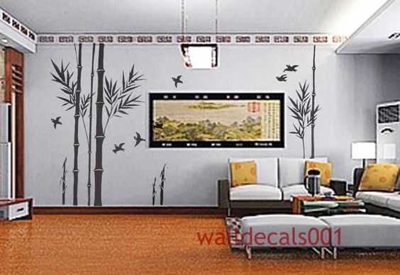 Wall Decal wall sticker bamboo decal birds decal by walldecals001, $76.00