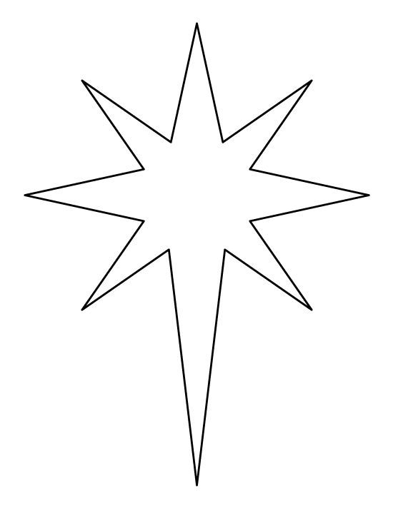 8 inch star pattern Use the printable outline for crafts - star template