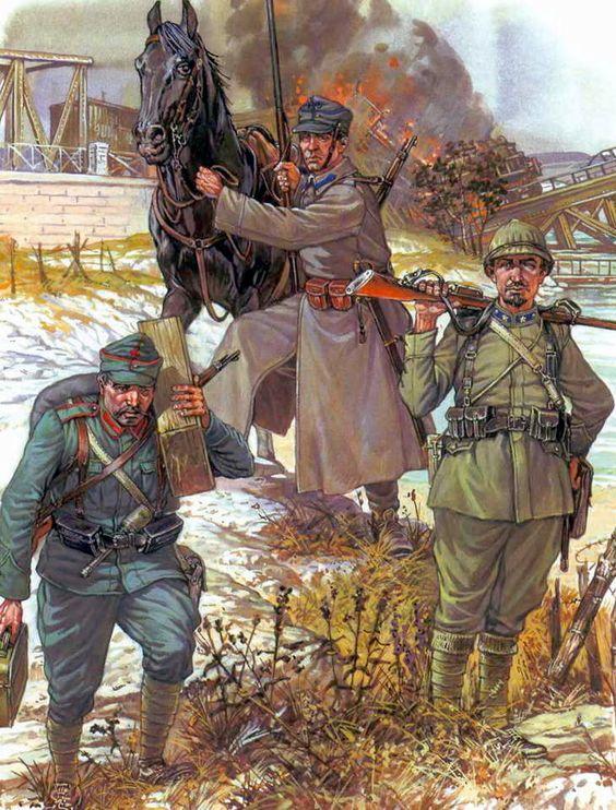 het Witte Leger was een van de vechtende partijen tijdens de Russische Burgeroorlog. Na lang gevochten te hebben verloren de Witten in 1921 van het Rode Leger