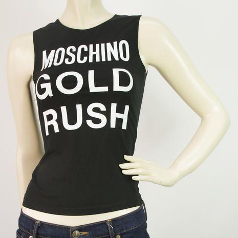 Moschino Jeans Black White Vest Tank Summer Top Sz 40 It