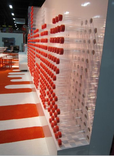 Exhibition Booth Materials : Nickelodeon signage made from recycled poster tube