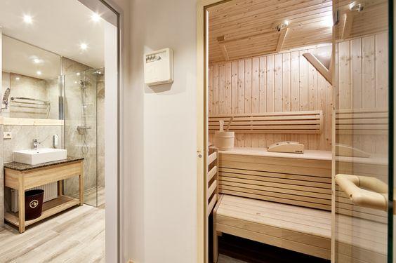 Badezimmer mit Privatsauna