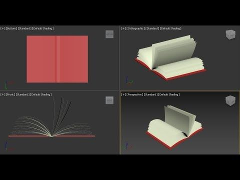 6 Open Note Book Modeling 3ds Max Objects Modeling For Beginners Youtube 3ds Max Tutorials 3ds Max 3d Modeling Tutorial