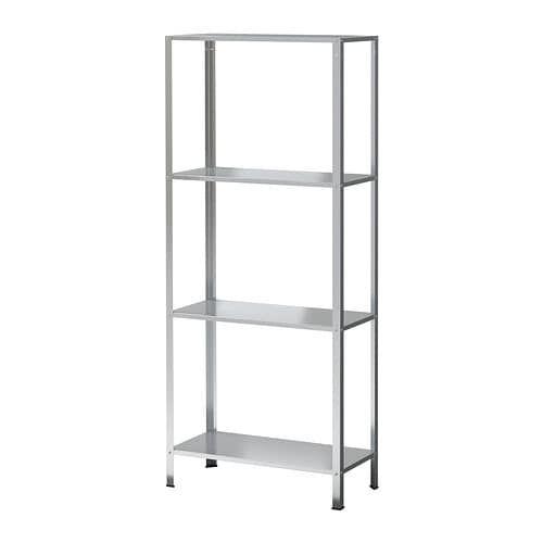 Ikea Hyllis Indoor Outdoor Galvanized Shelf Unit Ikea Shelves Shelves Ikea