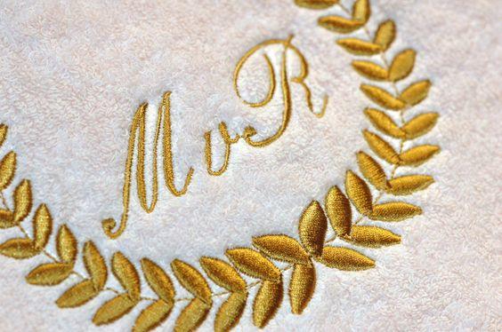 Handdoeken met monogram