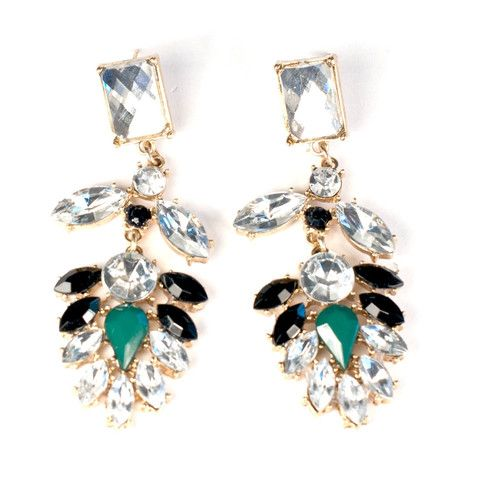 Green Gem Earrings | HotOnTrend.com