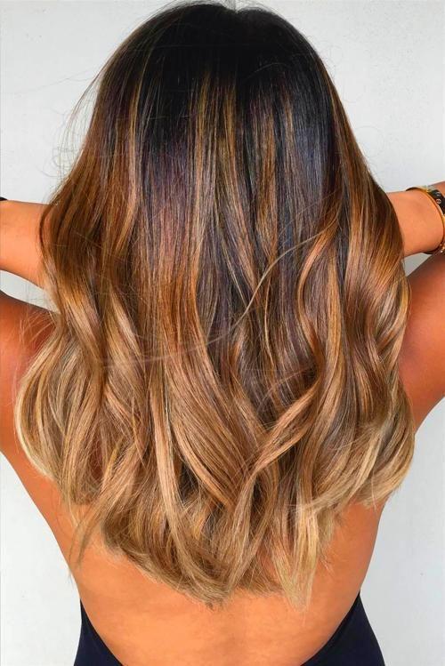 Hair Makeup Long Hair Color Dark Brown To Light Brown Ombre Hair Color Light Brown