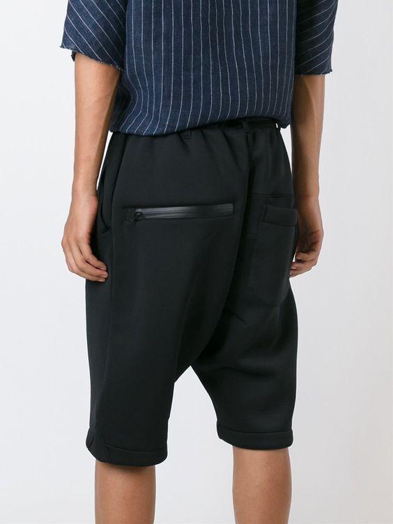 Y-3 Shorts com zíper