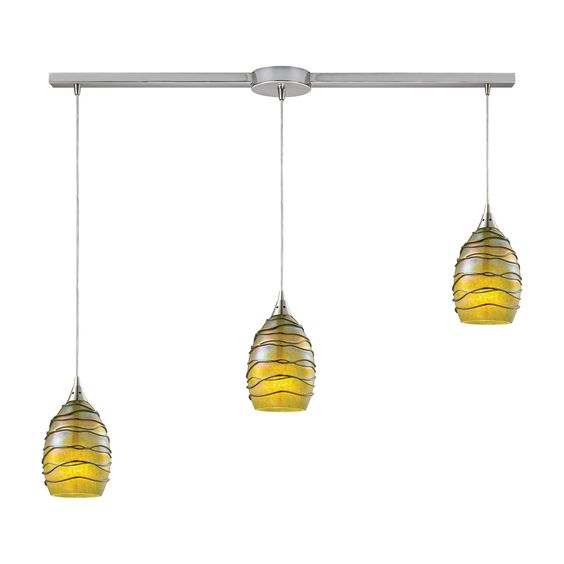 Vines 3 Light Kitchen Island Pendant