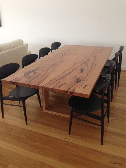 Blackbutt Slab Dining Table - The Hardwood Refinery, Furniture Manufacturers, Eraring, NSW, 2264 - TrueLocal