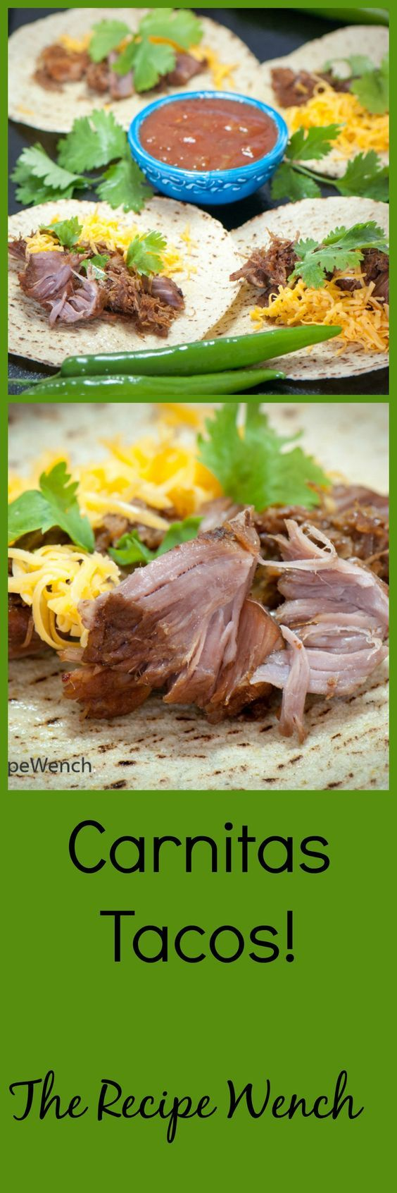 Carnitas Tacos!  So super easy to make, you can treat your friends and loved ones to carnitas regularly!: