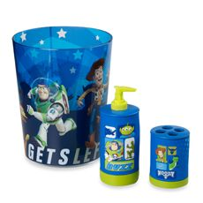 Toy Story Trash Bin, Soap Pump, and Toothbrush Holder  $46.00 at Bed Bath & Beyond