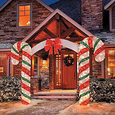 Outdoor Lighted Candy Canes: $119.98 Lighted Candy Cane Arch,Lighting