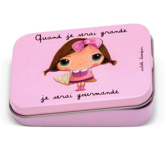 """Boîte à bons points """"Quand je serai grande, je serai Gourmande"""" - Le Coin des Créateurs #lecoindescreateurs #isabellekessedjian #boitea bonspoints #boitemetal #gourmande"""