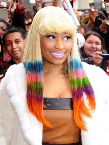 Enjoyable Crazy Hair Colour Celebrities Hair And Crazy Hair On Pinterest Short Hairstyles Gunalazisus