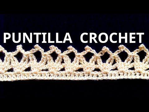 Puntilla N° 23 en tejido crochet tutorial paso a paso. - YouTube