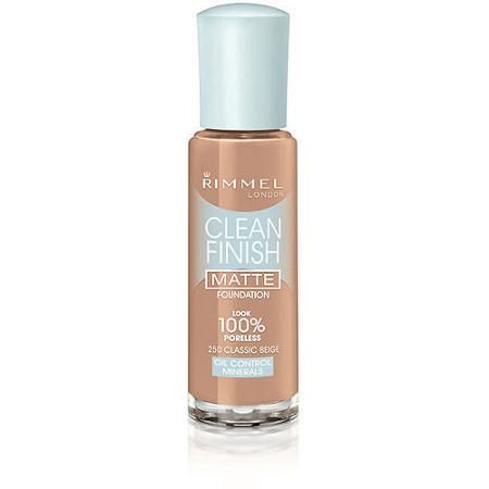 Rimmel Clean Finish Matte Foundation, 250 Classic Beige - Walmart ...
