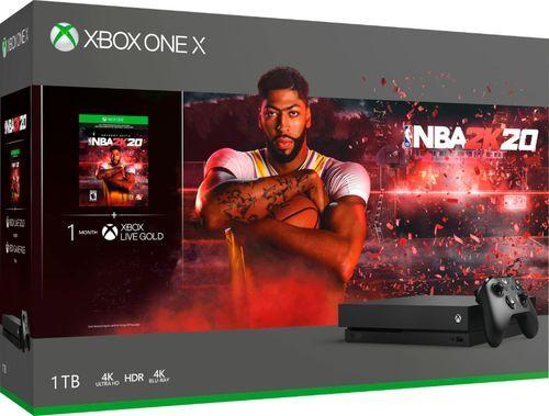 Best Buy Microsoft Xbox One X 1tb Nba 2k20 Bundle Black Cyv 00343 Xbox Xbox One Xbox One Console