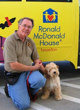 We love seeing photos of Mogie when he was in training to be the Houston Ronald McDonald House puppy.
