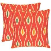 Set of 2 Safavieh Charles Red Accent Pillows - #X6588 | LampsPlus.com