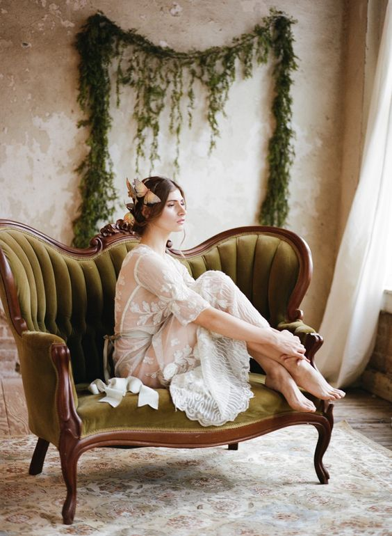 Romantic Vintage Boudoir Session // Photography ~ Archetype Photography