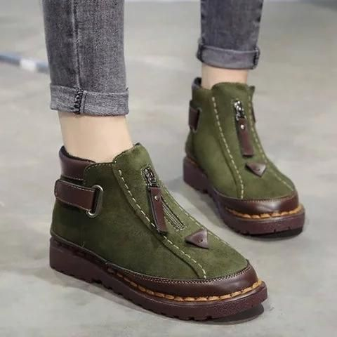 Womens Chelsea Flat Ankle Boots